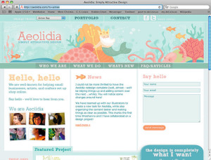Header web illustrations for Aeolidia