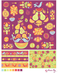 fruity coordinating patterns-fabric available at www.spoonflower.com/profiles/littledear