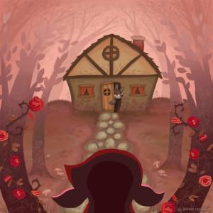Little Red Riding Hood story art