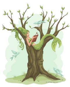 Mermaid Tree- prints available at www.society6.com/aimeeray