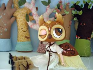 Custom painted Owl doll