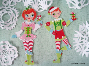 Christmas Elf paper dolls