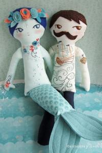 Tattooed Dolls mermaid and sailor