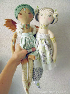 Hand made embroidered dolls