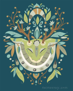 Deer Spirit- prints available at www.society6.com/aimeeray
