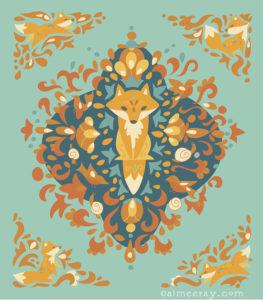 Fox Lore- prints available at www.society6.com/aimeeray