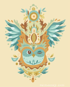 Owl Wings- prints available at www.society6.com/aimeeray