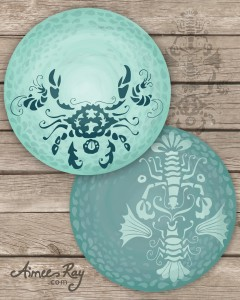 crustaceans plate designs